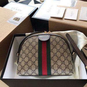 NWT GUCCI Ophidia GG Small Shoulder Canvas Bagjazz